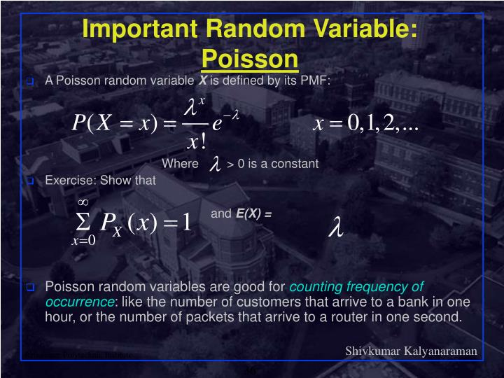 Important Random Variable: