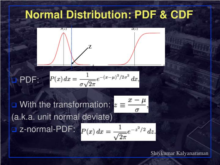 Normal Distribution: PDF & CDF