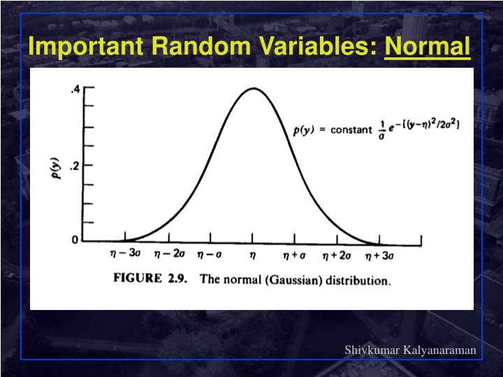 Important Random Variables:
