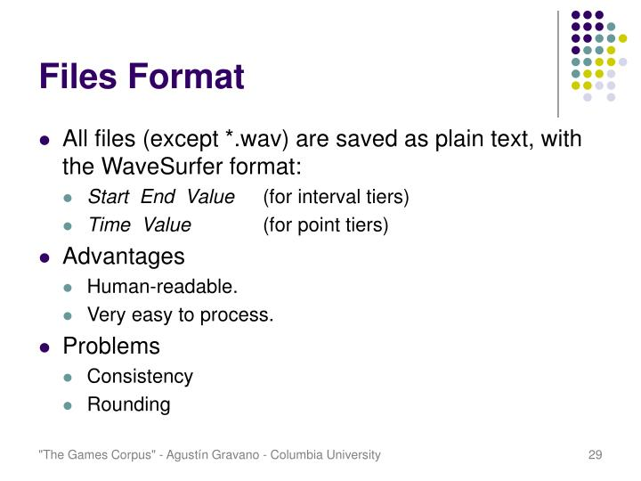Files Format