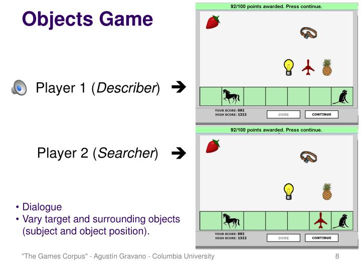 Objects Game