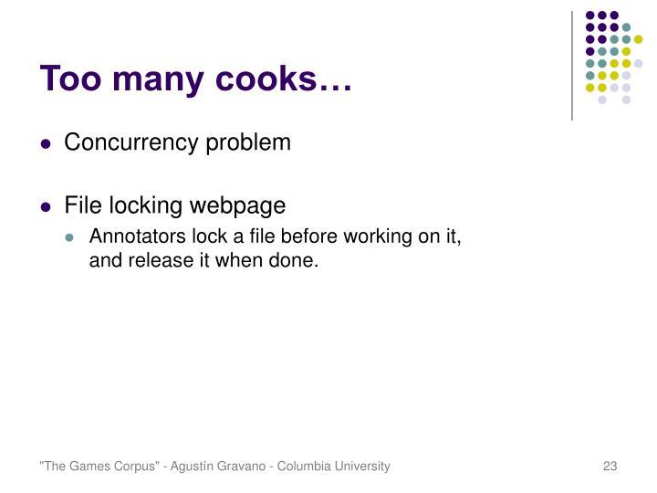 Too many cooks…