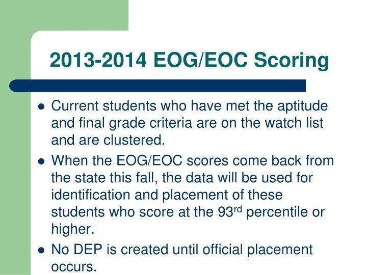 2013-2014 EOG/EOC Scoring