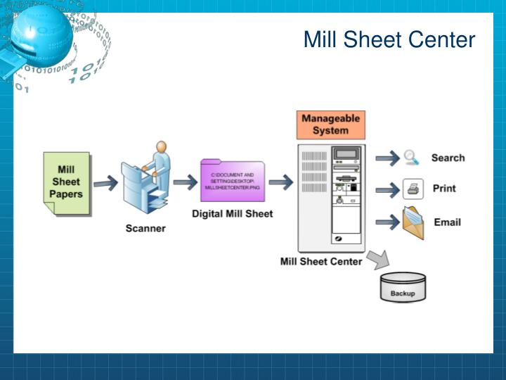 Mill Sheet Center