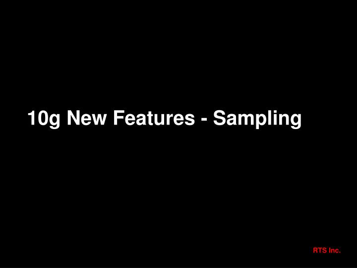 10g New Features - Sampling