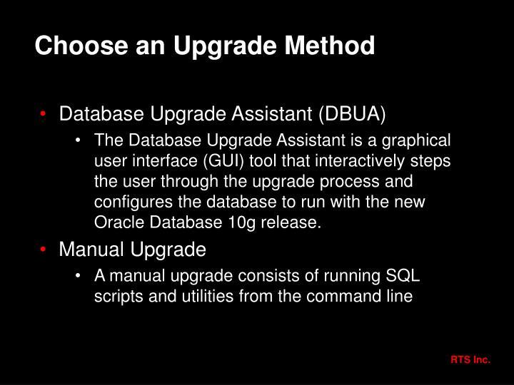 Choose an Upgrade Method