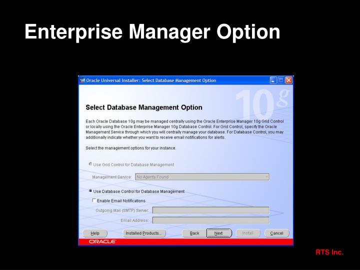 Enterprise Manager Option