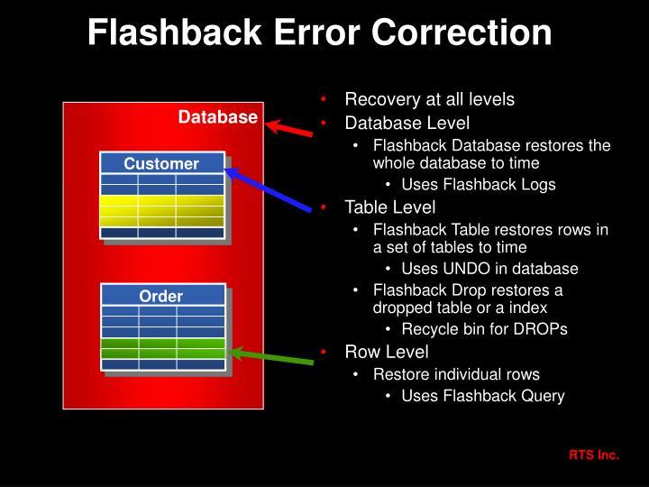 Flashback Error Correction