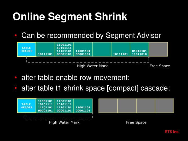 Online Segment Shrink