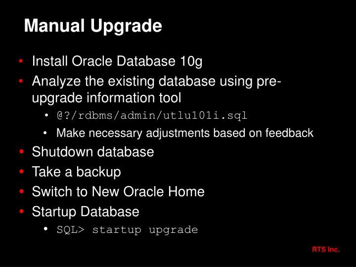 Manual Upgrade