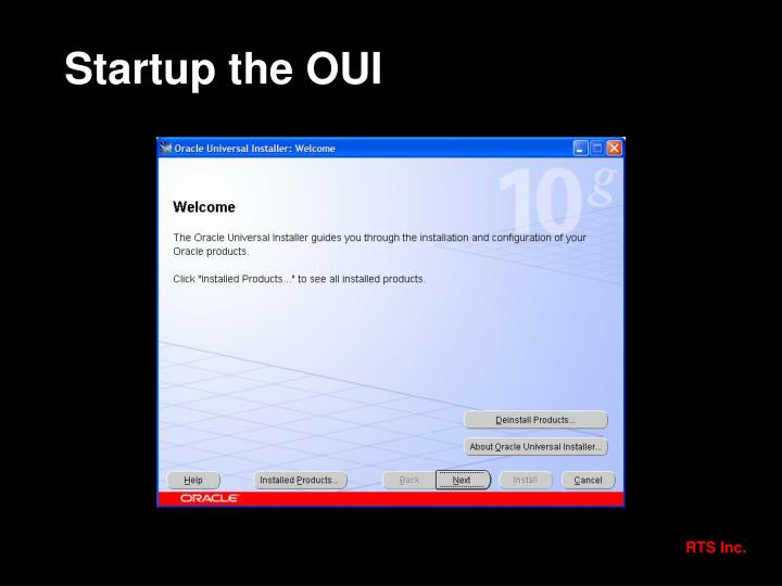 Startup the OUI