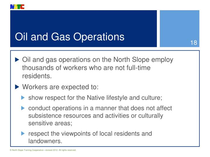 Oil and Gas Operations
