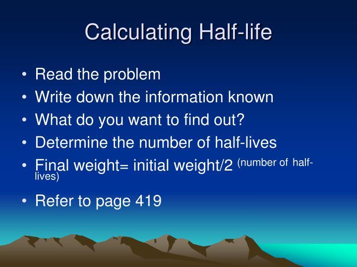 Calculating Half-life