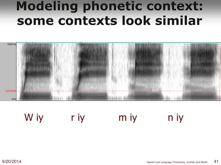 Modeling phonetic context: some contexts look similar