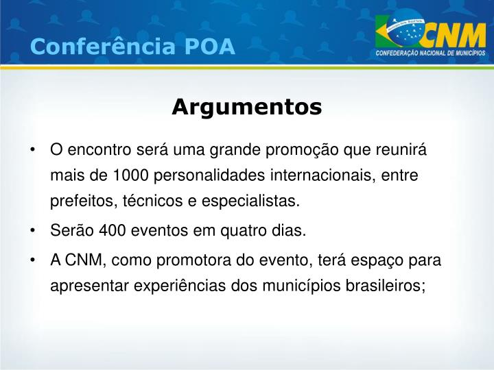 Conferência POA