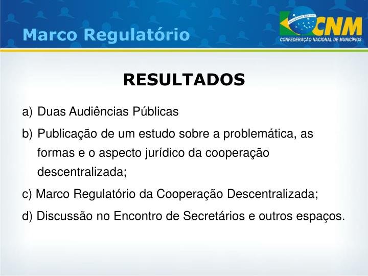 Marco Regulatório