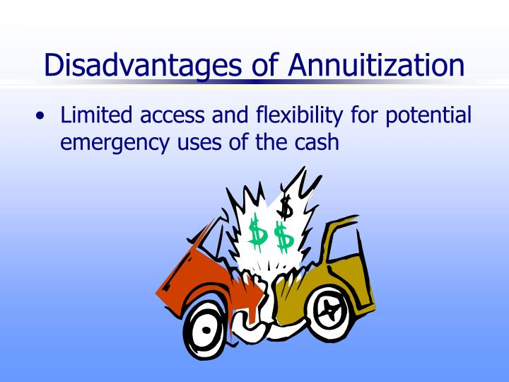 Disadvantages of Annuitization
