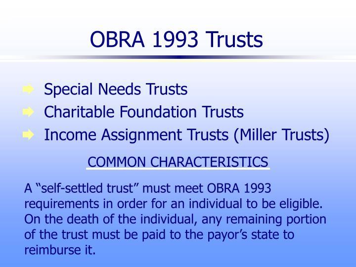 OBRA 1993 Trusts
