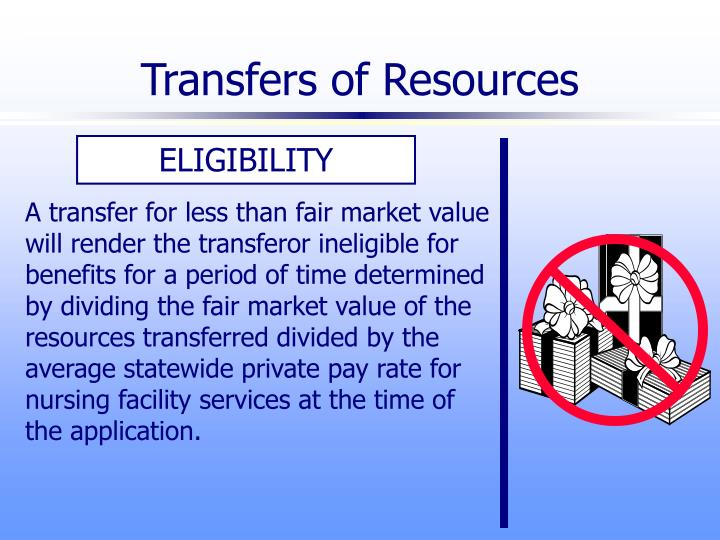 Transfers of Resources