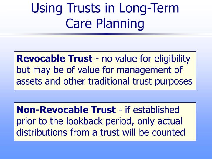 Using Trusts in Long-Term