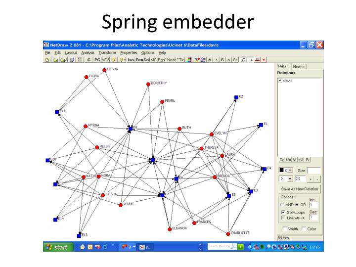 Spring embedder