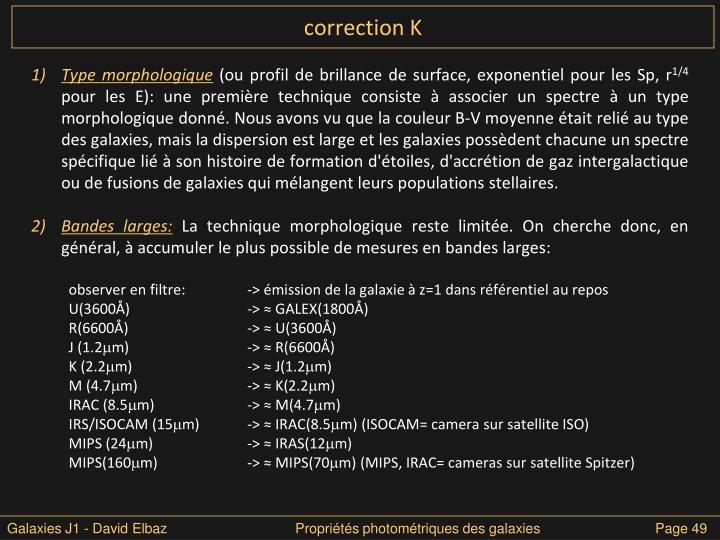 correction K
