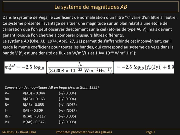 Le système de magnitudes