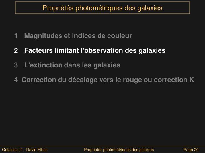 1 Magnitudes et indices de couleur
