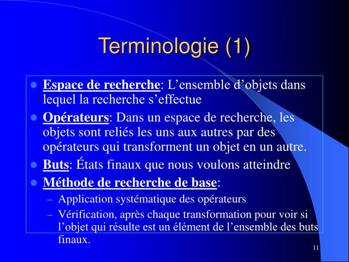 Terminologie (1)