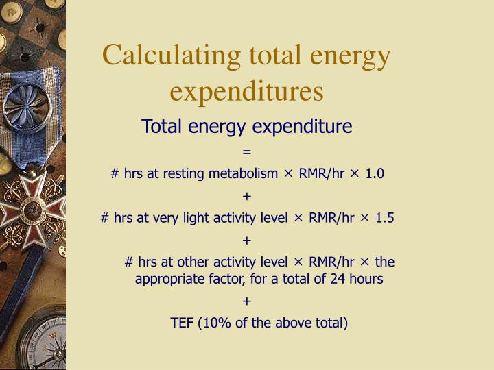 Total energy expenditure