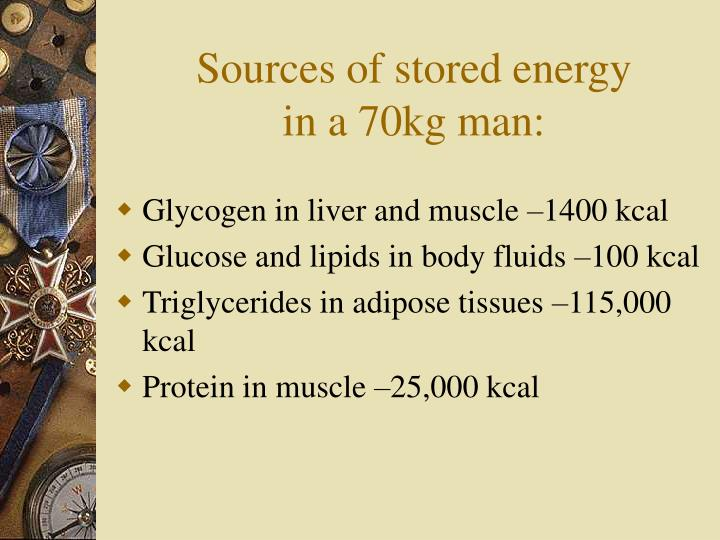 Sources of stored energy