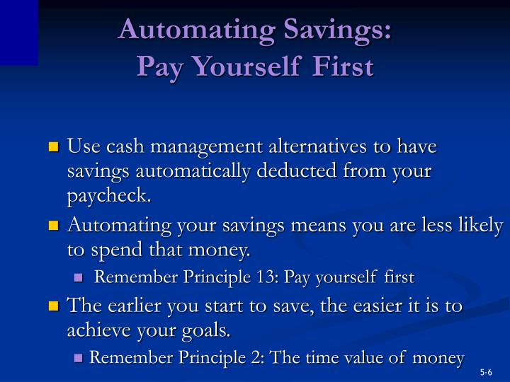 Automating Savings: