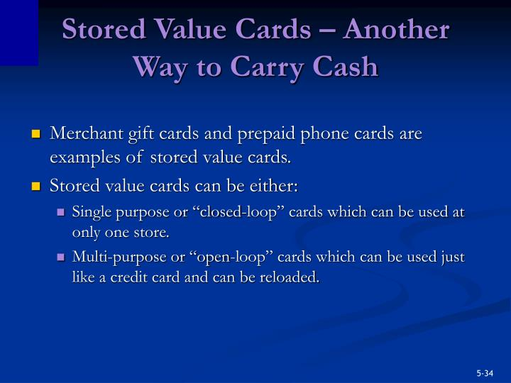 Stored Value Cards – Another Way to Carry Cash