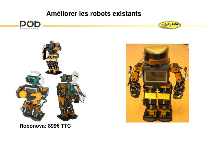 Robonova: 899€ TTC