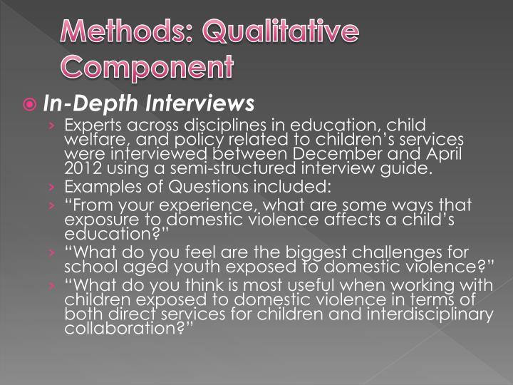 Methods: Qualitative Component