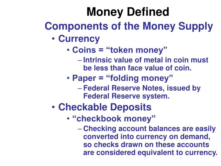 Money Defined