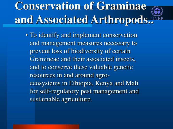 Conservation of Graminae and Associated Arthropods..