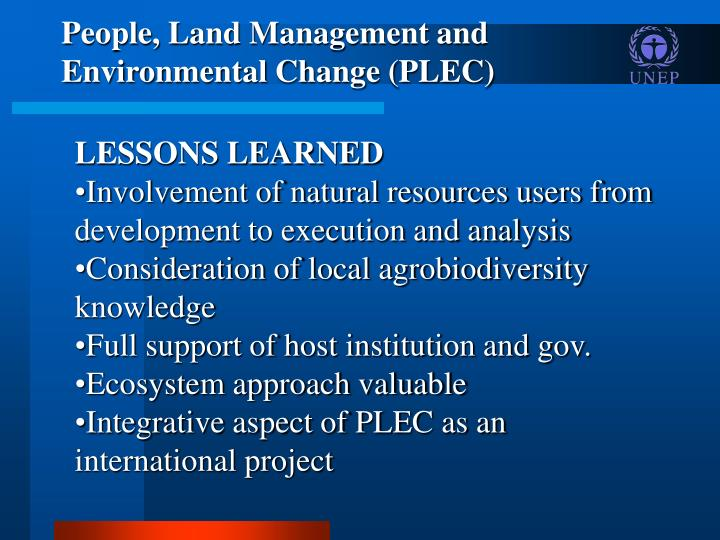 People, Land Management and