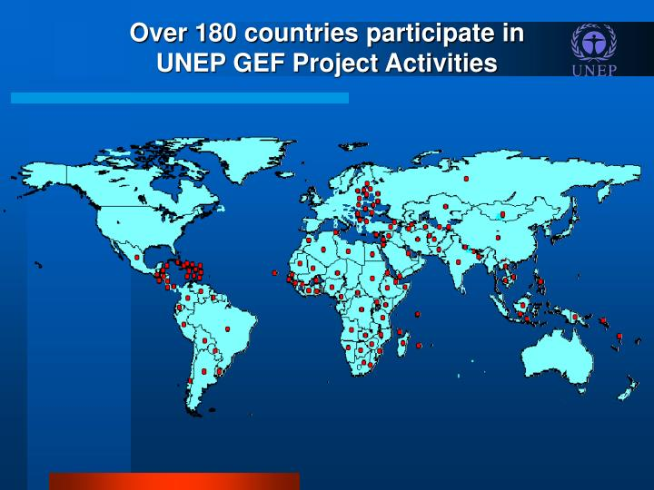 Over 180 countries participate in