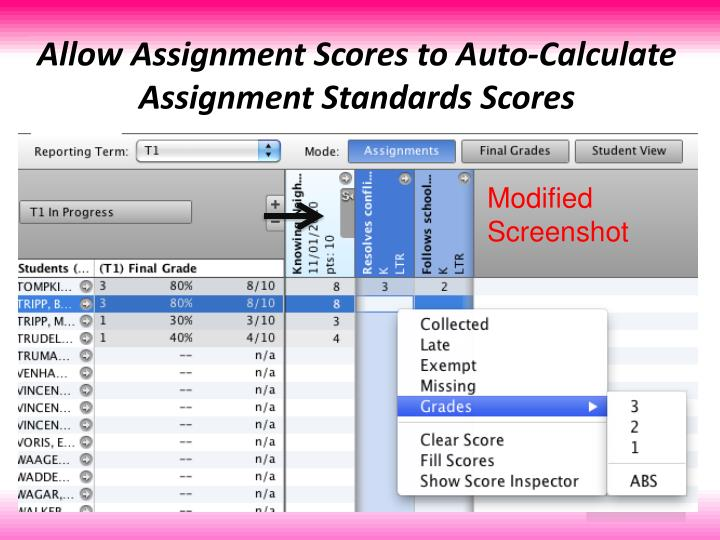 Allow Assignment Scores to Auto-Calculate