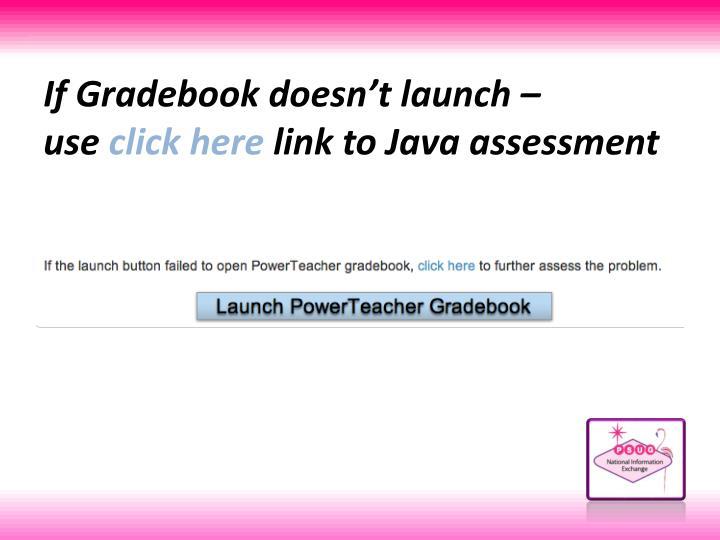 If Gradebook doesn