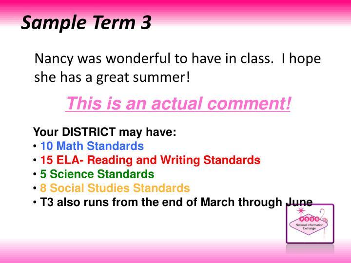 Sample Term 3
