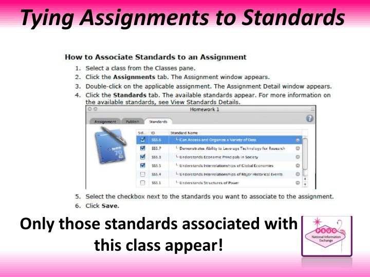 Tying Assignments to Standards