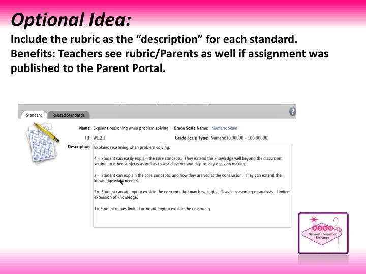 Optional Idea: