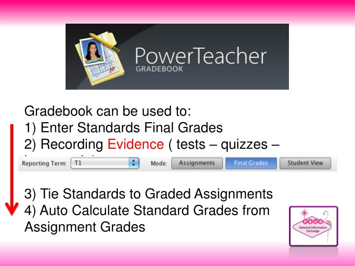 Gradebook can be used to: