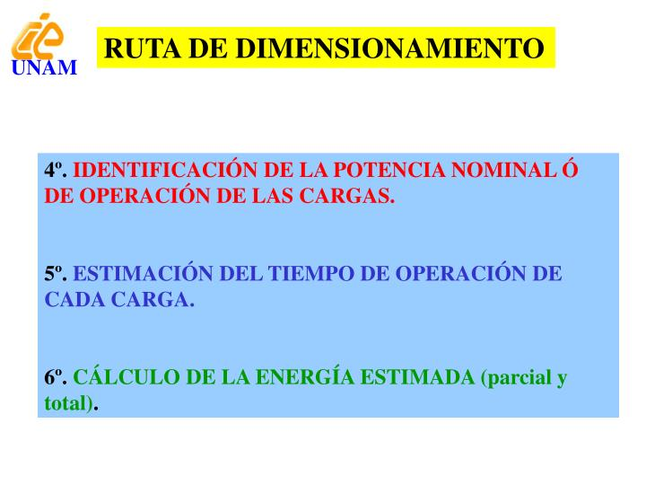 RUTA DE DIMENSIONAMIENTO