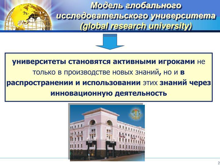 Модель глобального исследовательского университета