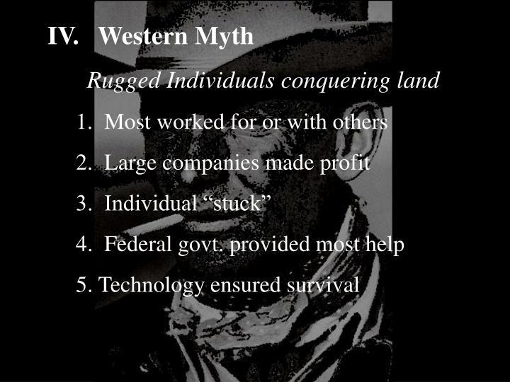 IV.Western Myth