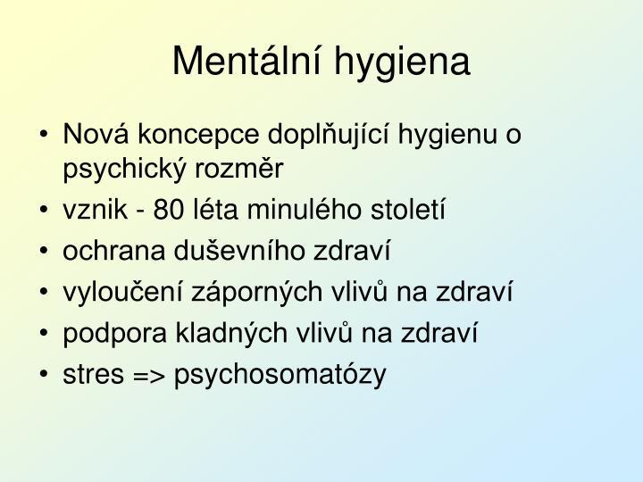 Mentální hygiena