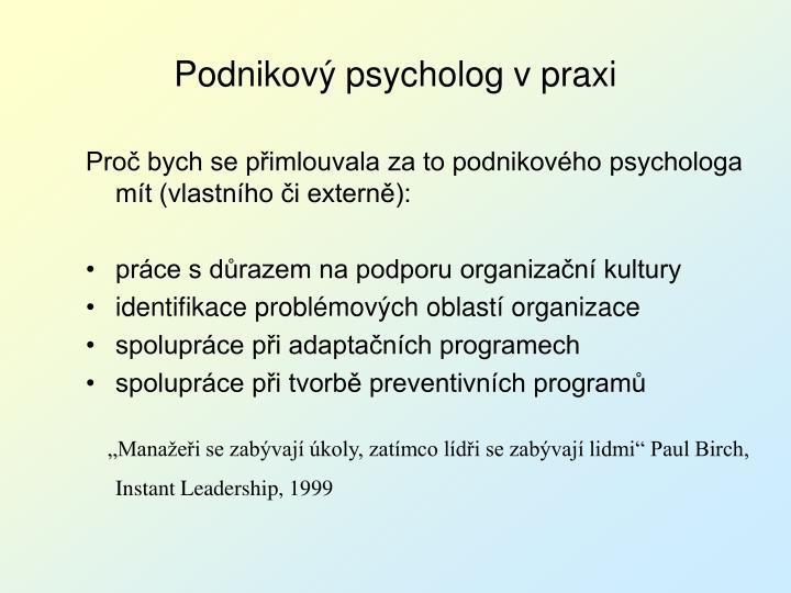 Proč bych se přimlouvala za to podnikového psychologa mít (vlastního či externě):